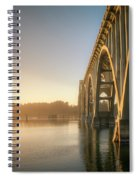 Yaquina Bay Bridge - Golden Light 0634 Spiral Notebook
