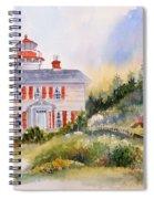 Yaquina Bay Light Spiral Notebook