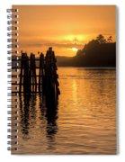 Yaquina Bay Sunset - Vertical Spiral Notebook