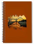 Yaquina Bay Reflections  Spiral Notebook