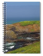 Yaquina Head Lighthouse And Bay Spiral Notebook