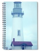 Yaquina Head Lighthouse In The Fog Spiral Notebook