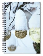Yarn In The Snow Spiral Notebook
