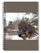 Yates Mill In Winter Spiral Notebook