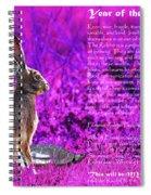 Year Of The Rabbit 2011 . Magenta Spiral Notebook