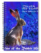 Year Of The Rabbit 2011 . Square Blue Spiral Notebook
