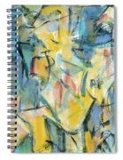 Yellow Abstraction Spiral Notebook