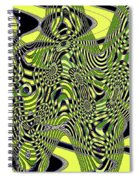 Yellow And Black #3 Abstract Spiral Notebook