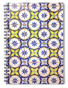 Yellow And Blue Circle Tile Spiral Notebook
