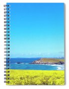 Yellow And Blue Spiral Notebook