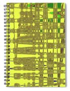Yellow And Brown Lines Spiral Notebook