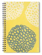 Yellow And Gray Garden Bloom Spiral Notebook