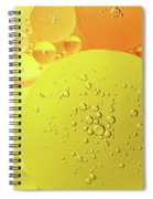Yellow And Orange Oil Droplet On Water Spiral Notebook