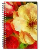 Yellow And Red Floral Delight Spiral Notebook