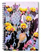 Yellow And Red Flower Spiral Notebook