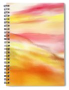 Yellow And Red Landscape Spiral Notebook