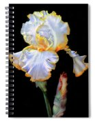 Yellow And White Iris Spiral Notebook