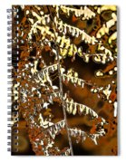 Yellow Autumn Leaves Fern Spiral Notebook