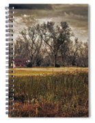 Yellow Barn And The Field Spiral Notebook