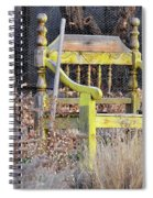 Yellow Bench Spiral Notebook