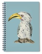 Yellow-billed Hornbill Watercolor Painting Spiral Notebook