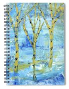 Yellow Birches Spiral Notebook