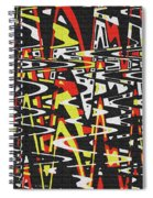Yellow Black Red White Drawing Abstract Spiral Notebook