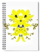 Yellow Blue Blossoms Spiral Notebook