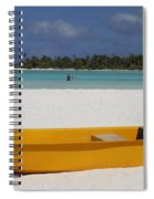 Yellow Boat In South Pacific Spiral Notebook