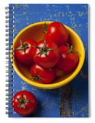 Yellow Bowl Of Tomatoes  Spiral Notebook