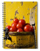 Yellow Bucket With Tomatoes Spiral Notebook