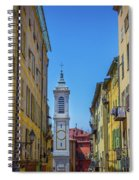 Yellow Buildings And Chapel In Old Town Nice, France - Landscape Spiral Notebook