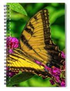 Yellow Butterfly In The Garden Spiral Notebook
