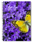 Yellow Butterfly On Mee Spiral Notebook