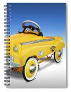 Yellow Cab Peddle Car Spiral Notebook