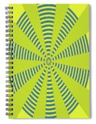 Yellow Cactus Spines Abstract Spiral Notebook
