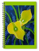 Yellow Callas Spiral Notebook