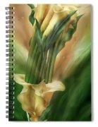 Yellow Callas In Calla Vase Spiral Notebook