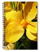 Yellow Canna Lily Spiral Notebook