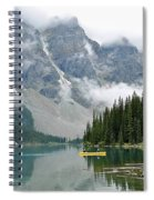 Yellow Canoe Spiral Notebook