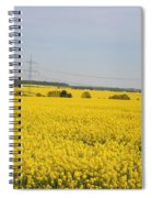 Yellow Canola Field Spiral Notebook