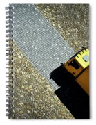 Yellow Car On The Stone Pavement Spiral Notebook