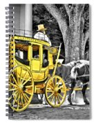 Yellow Carriage Spiral Notebook