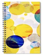 Yellow Circles Spiral Notebook
