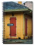 Yellow Cottage French Quarter- Nola Spiral Notebook