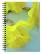 Yellow Daffodils Artwork Spring Flowers Art Prints Nature Floral Art Spiral Notebook