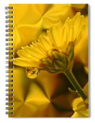 Yellow Drip Spiral Notebook