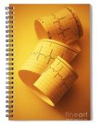 Yellow Ekg Spiral Notebook