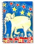Yellow Elephant Facing Left Spiral Notebook