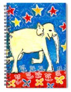Yellow Elephant Facing Right Spiral Notebook